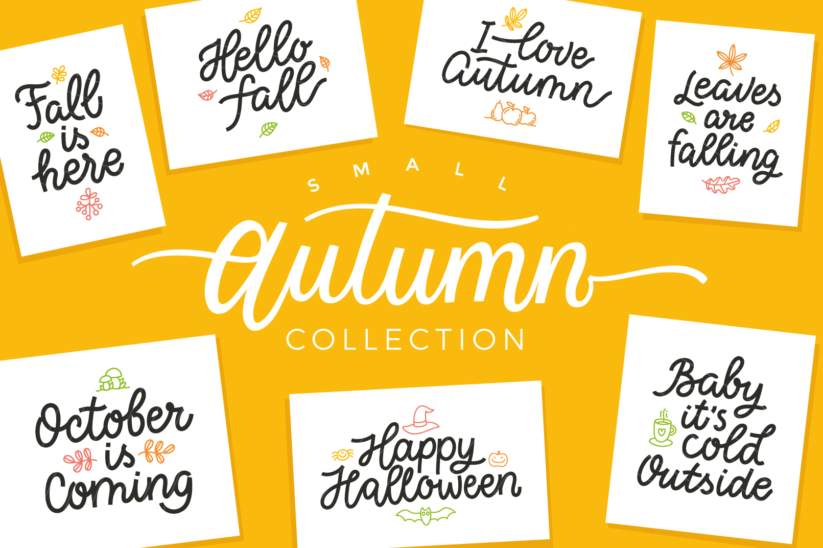 Autumn Collection, vector letterings example image 1
