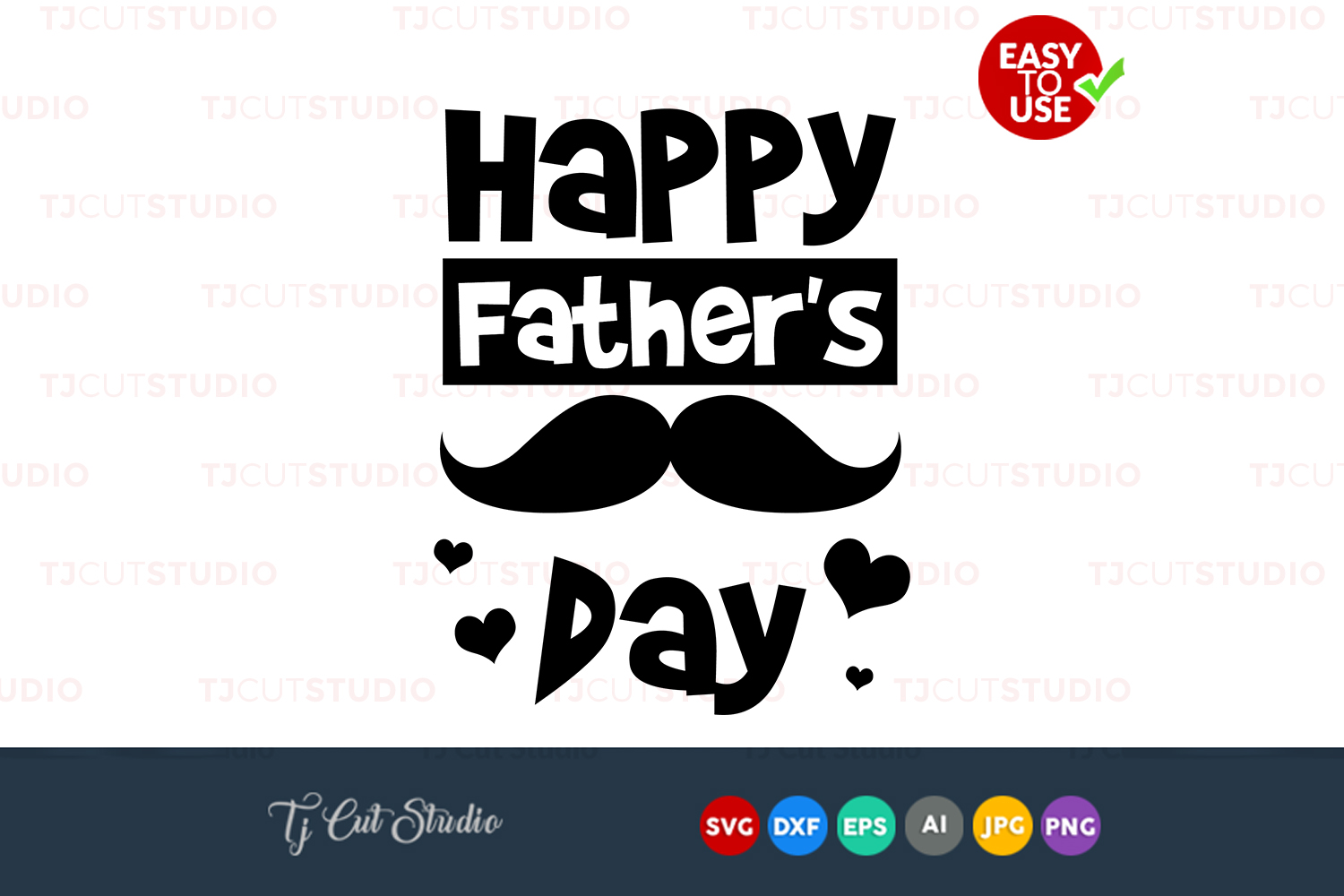 Happy Fathers day, fathers day svg, quote svg, Files for Silhouette Cameo or Cricut, Commercial & Personal Use. example image 1