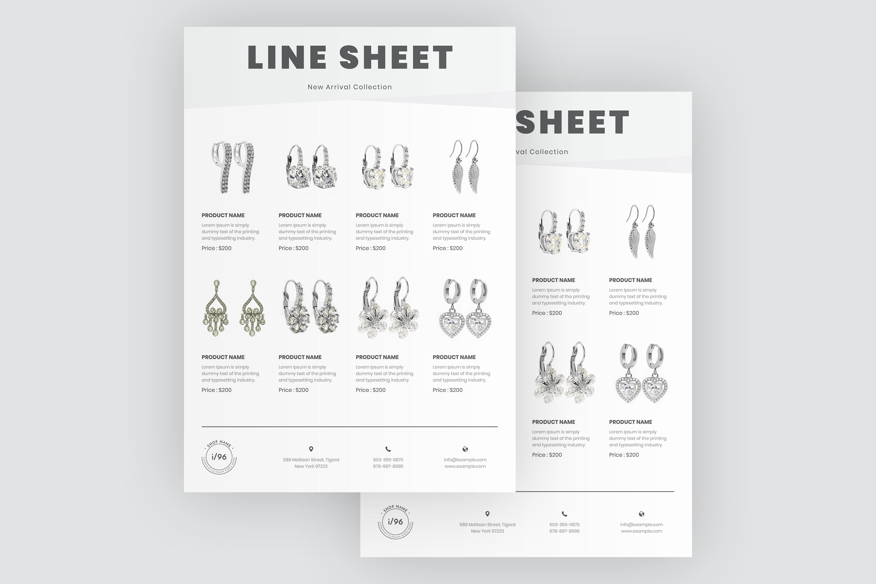 Product Sale Line Sheet Flyer Template example image 4