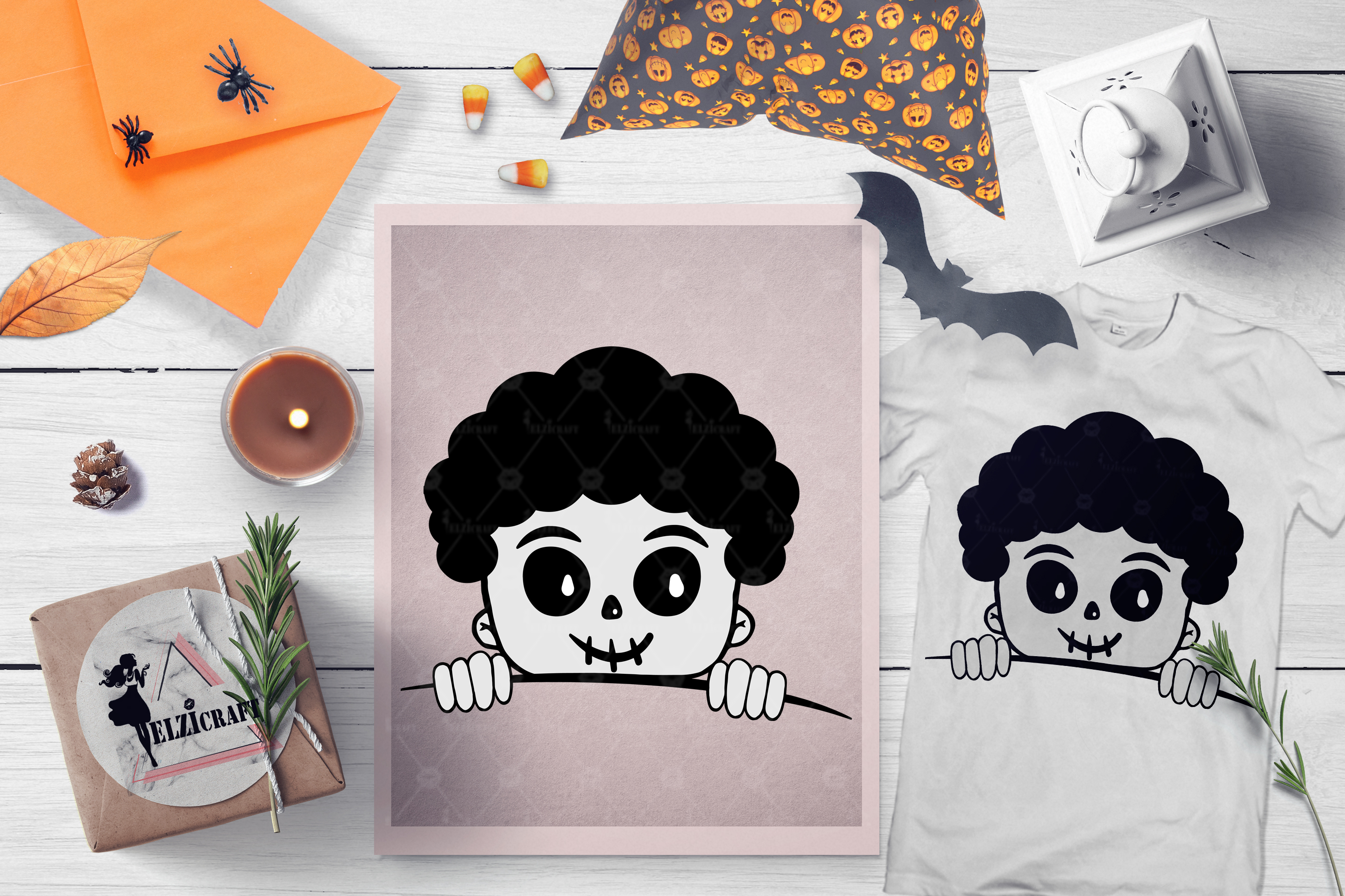 BUNDLE Halloween Afro Boys SVG Cut Files example image 10