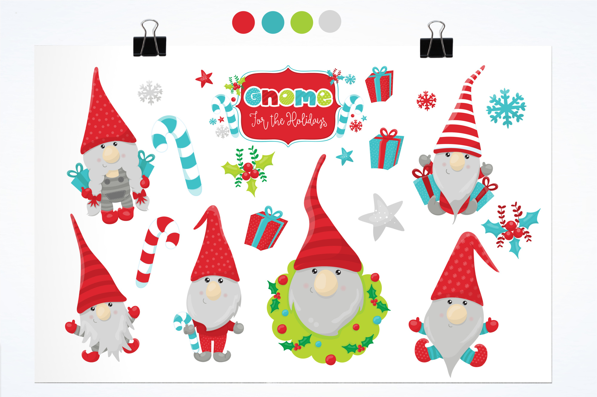 Holiday Gnomes graphics and illustrations example image 2