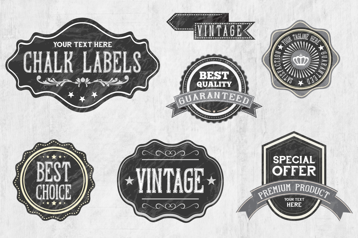 Chalk Badge Labels example image 3