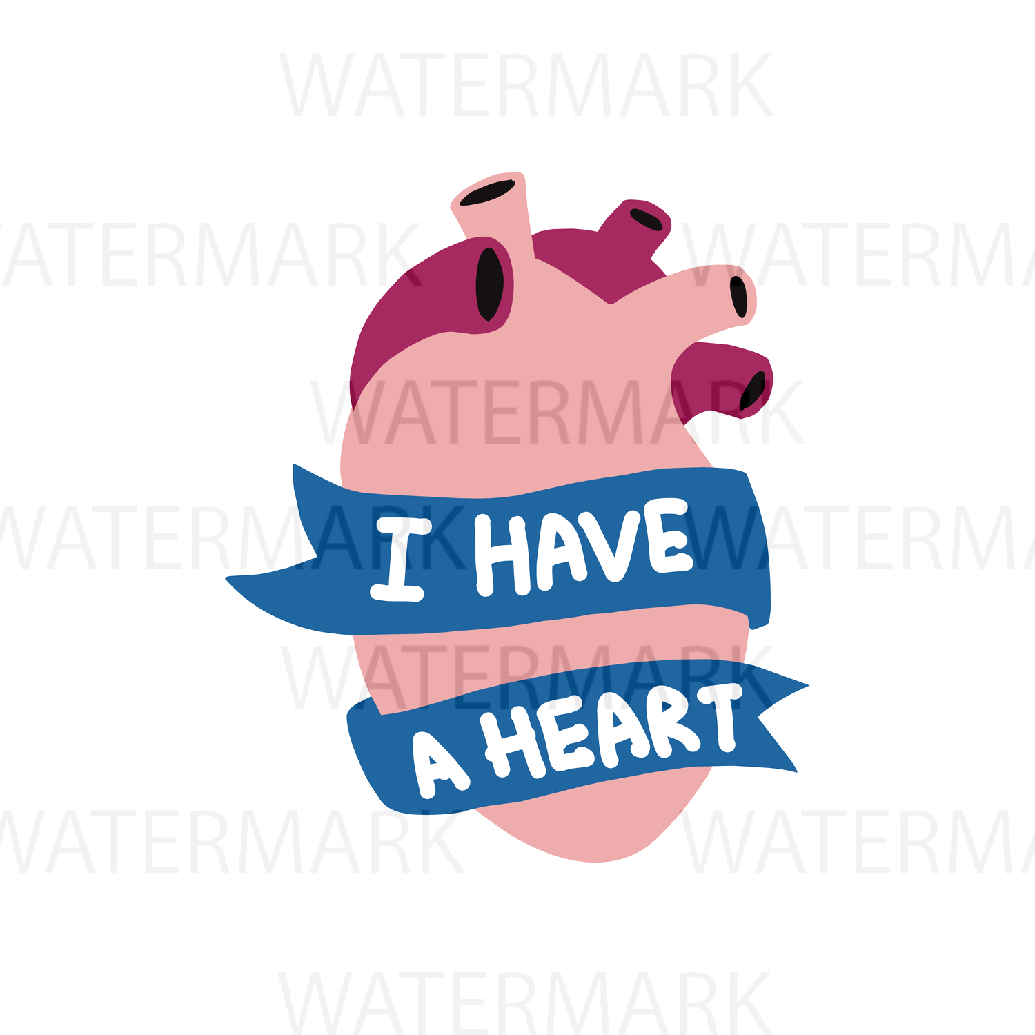 I have a heart - SVG/JPG/PNG - Hand Drawing example image 1