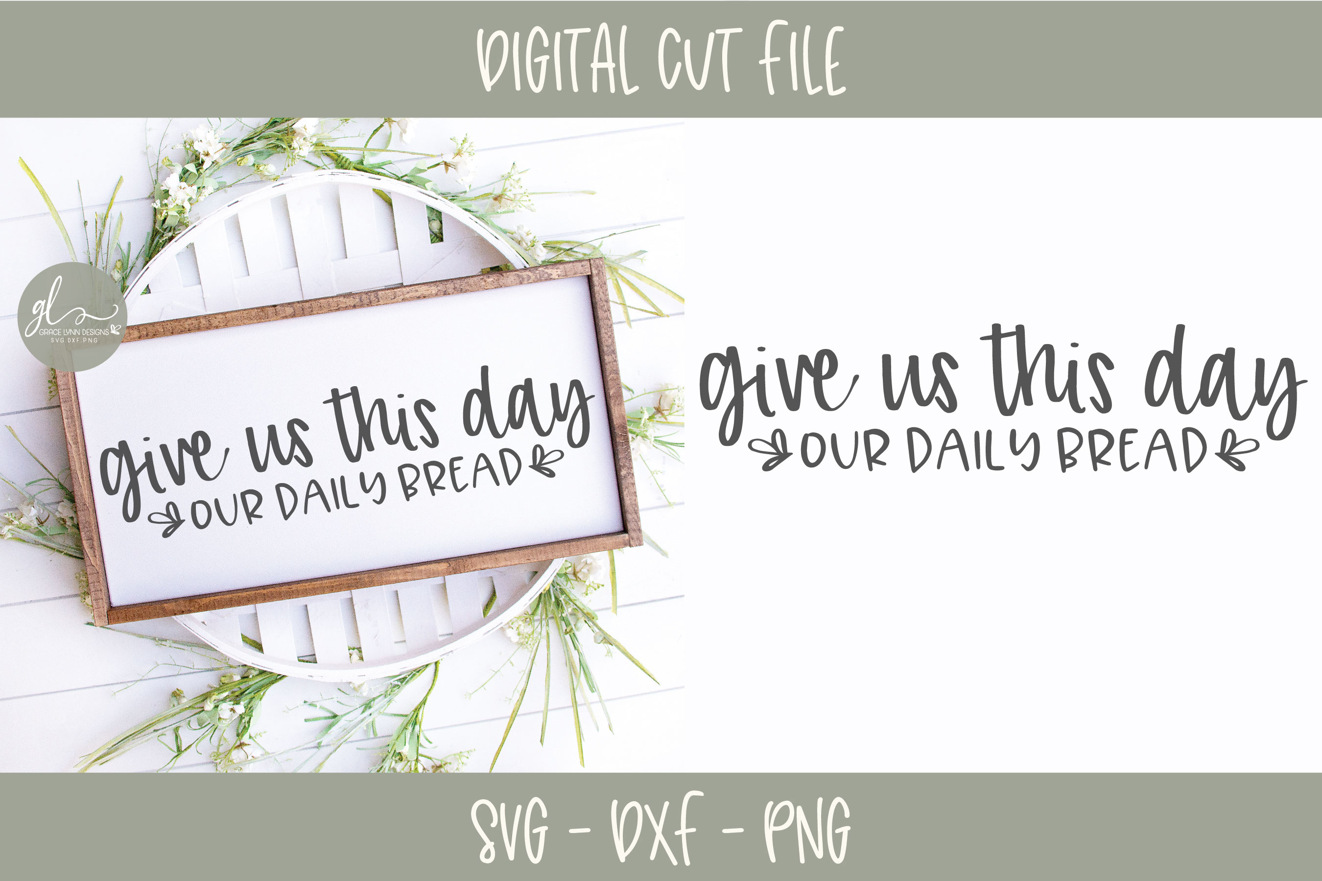 Give Us This Day Our Daily Bread - SVG example image 1