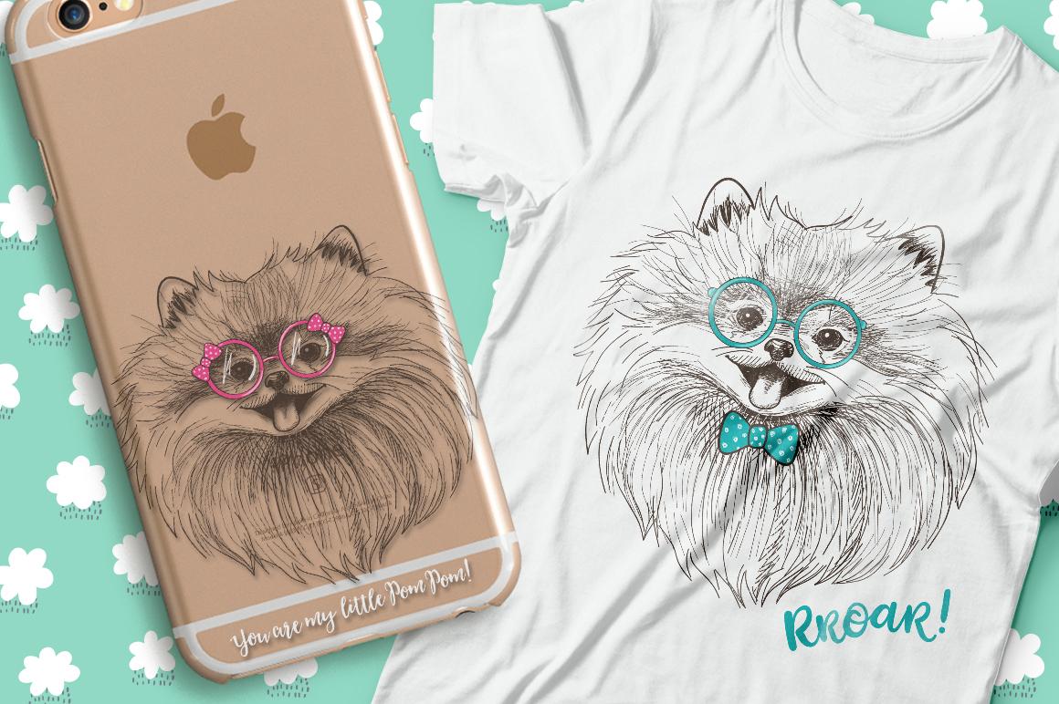 Pomeranian dogs print + bonus! example image 1