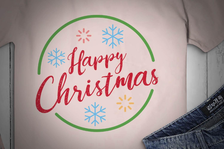 Merry Christmas Logo, Xmas, happy christmas, SVG Design example image 2