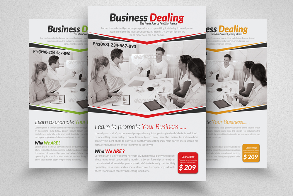 6 Multi Use Business Flyers Bundle example image 4
