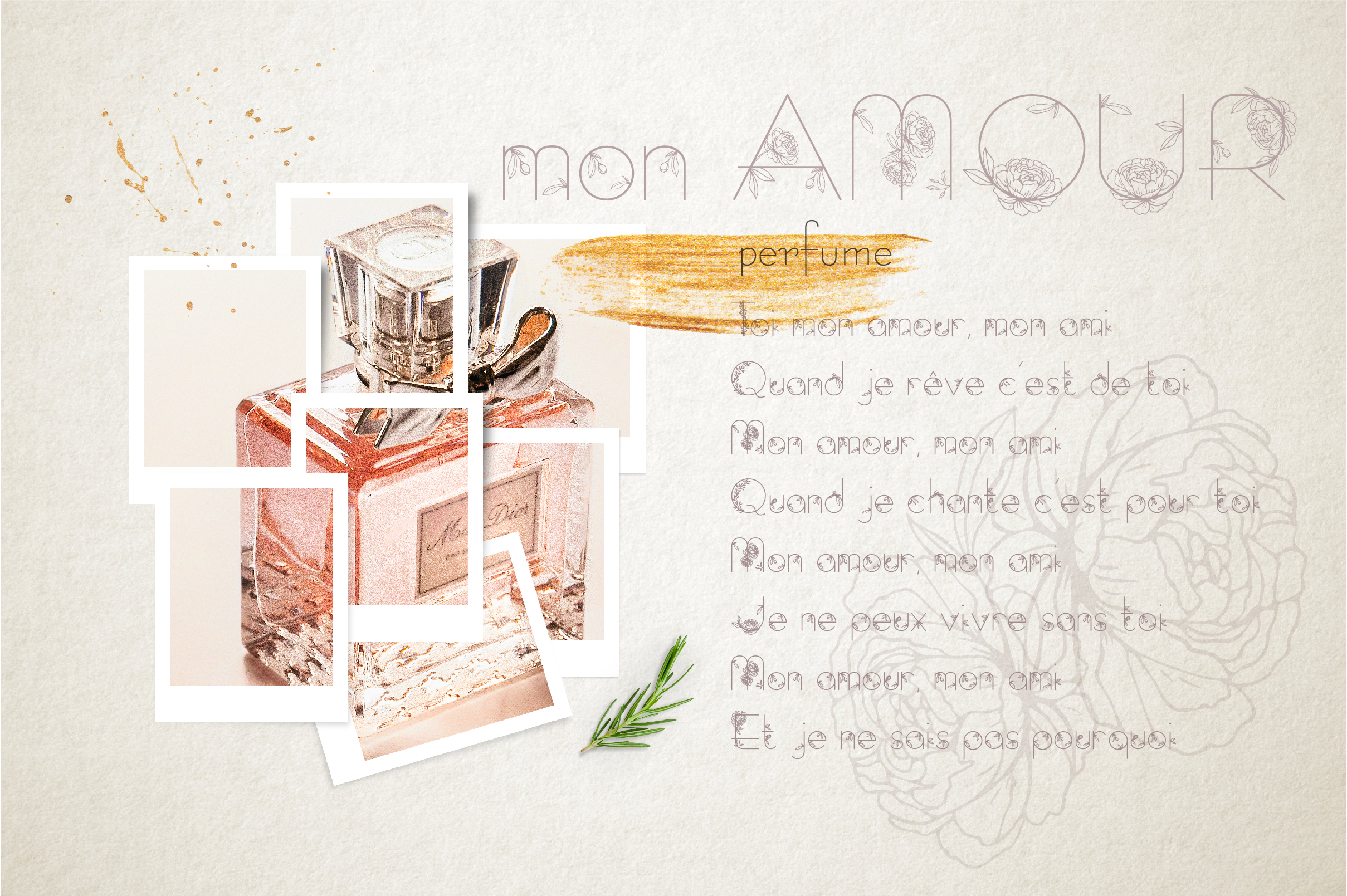 Amelie Floral Display Font example image 5
