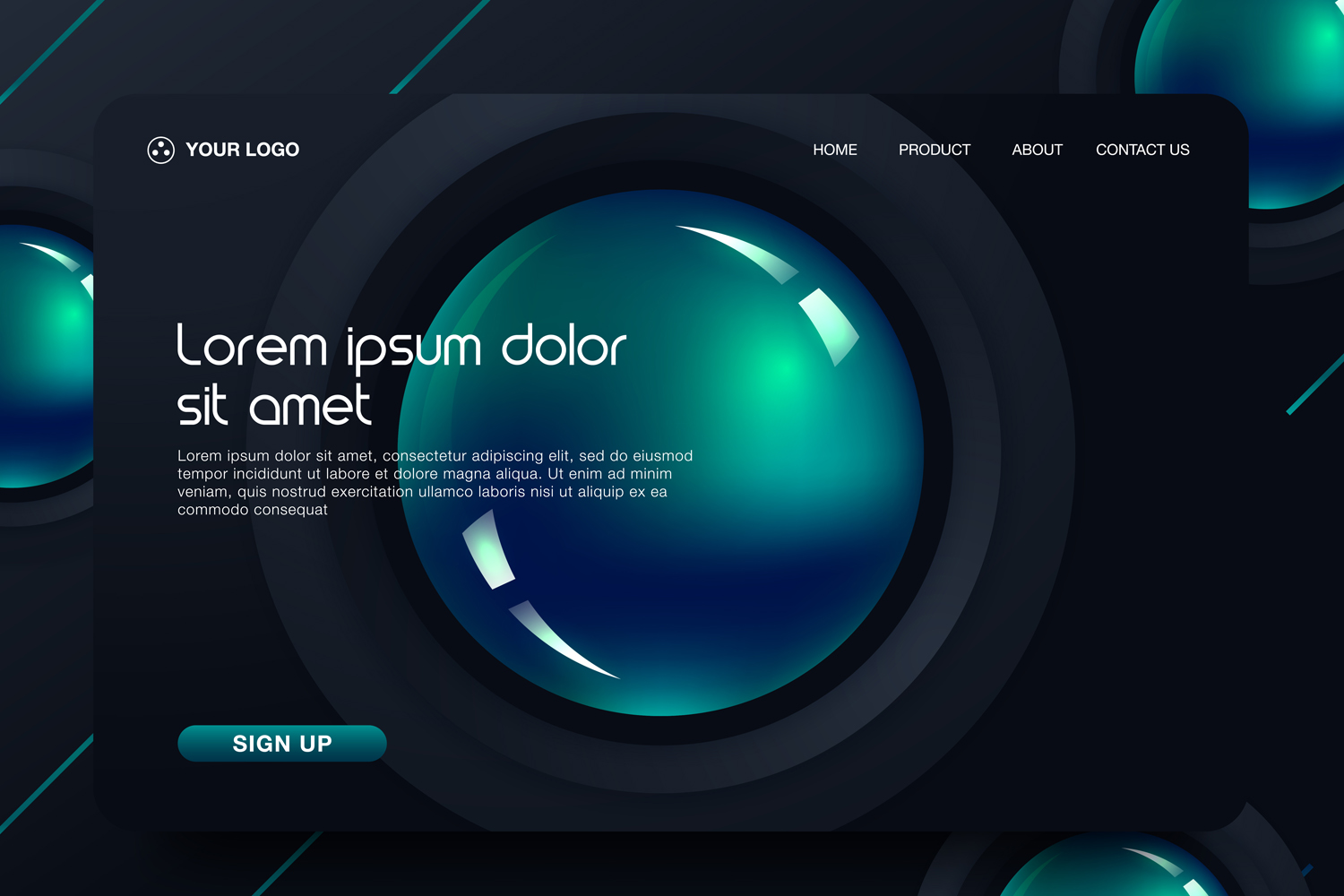 20 - Abstract background design. Landing page template example image 20
