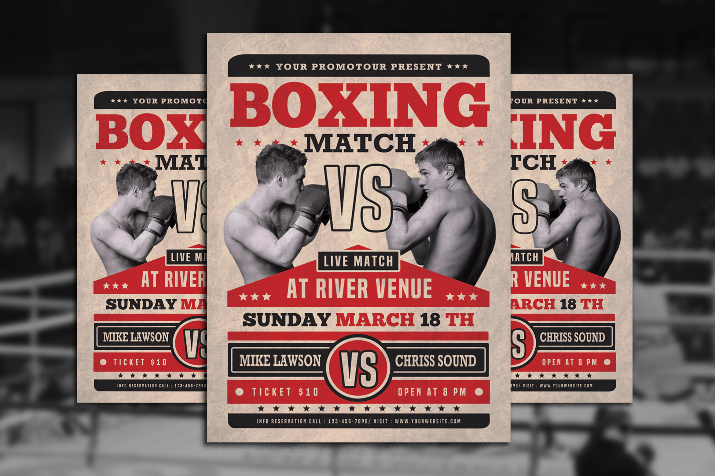 Boxing Match Flyer example image 1