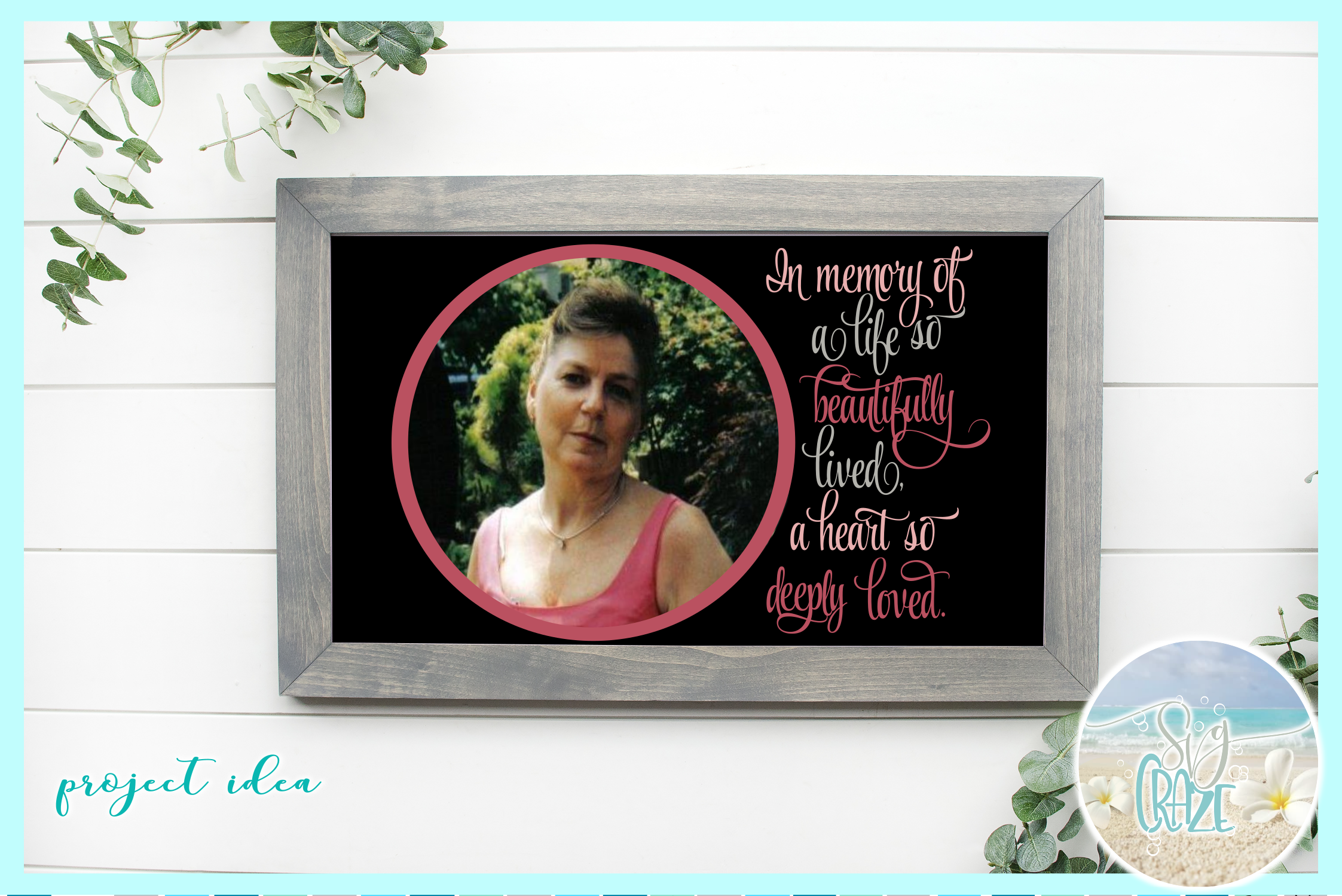 In Memory of Life Beautifully Lived Heart Deeply Loved SVG example image 2