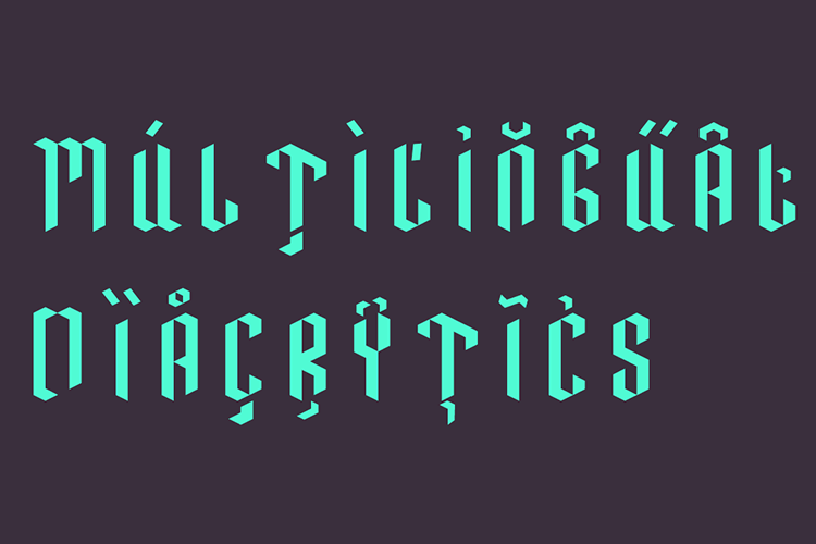 Neo Paralletter Font example image 12