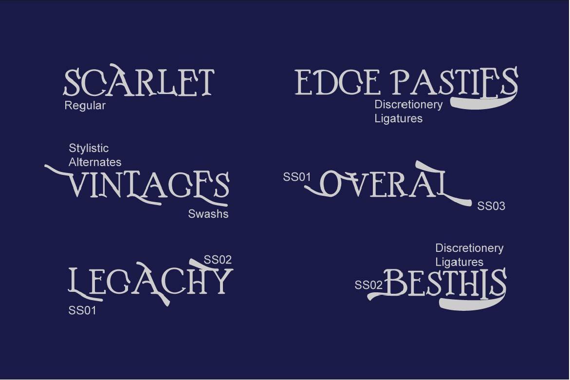 Boston Font Family example image 3