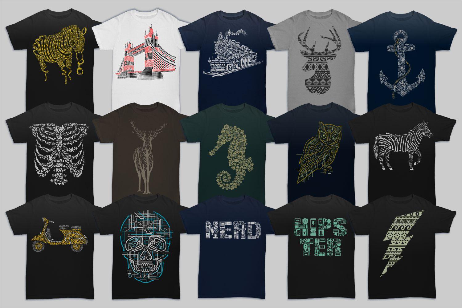 Tshirt Designs Mega Bundle Pack 1 + Pack 2 example image 3