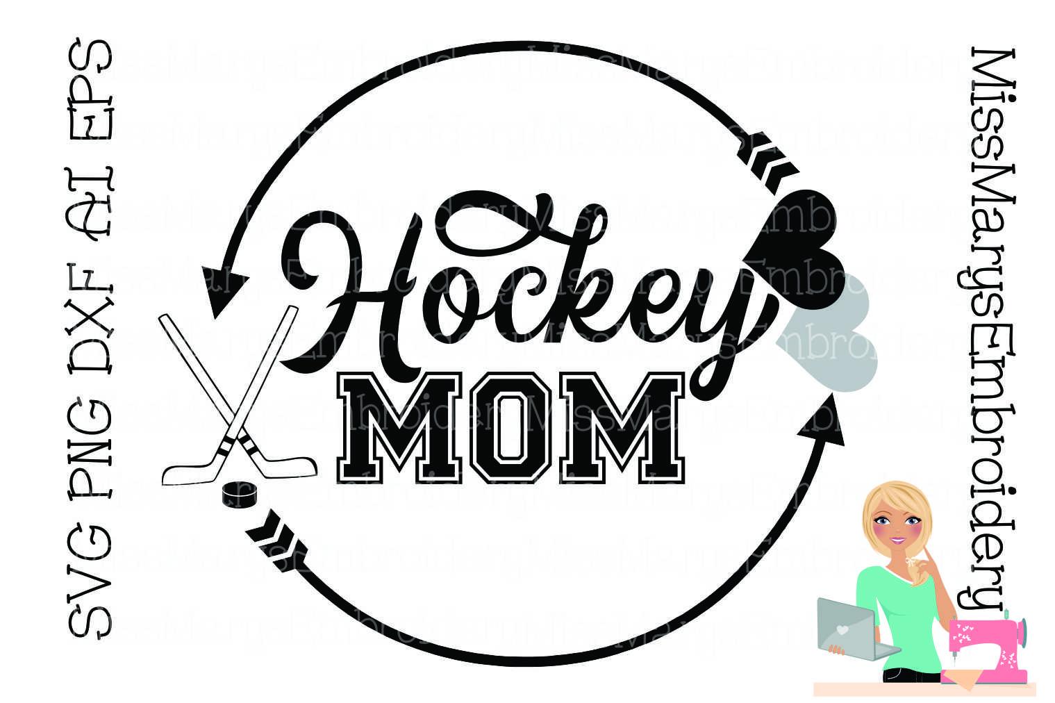 Hockey Mom SVG Cutting File PNG DXF AI EPS Hockey example image 1