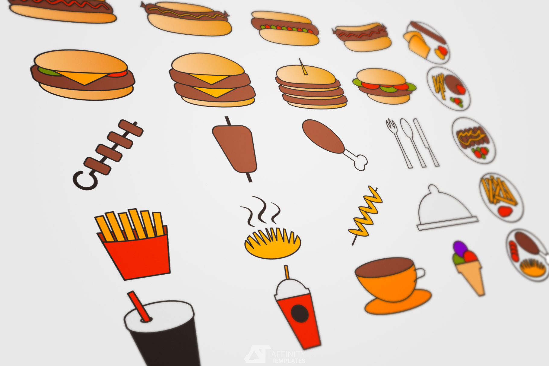 Fast Food Small Restaurant Logos example image 4