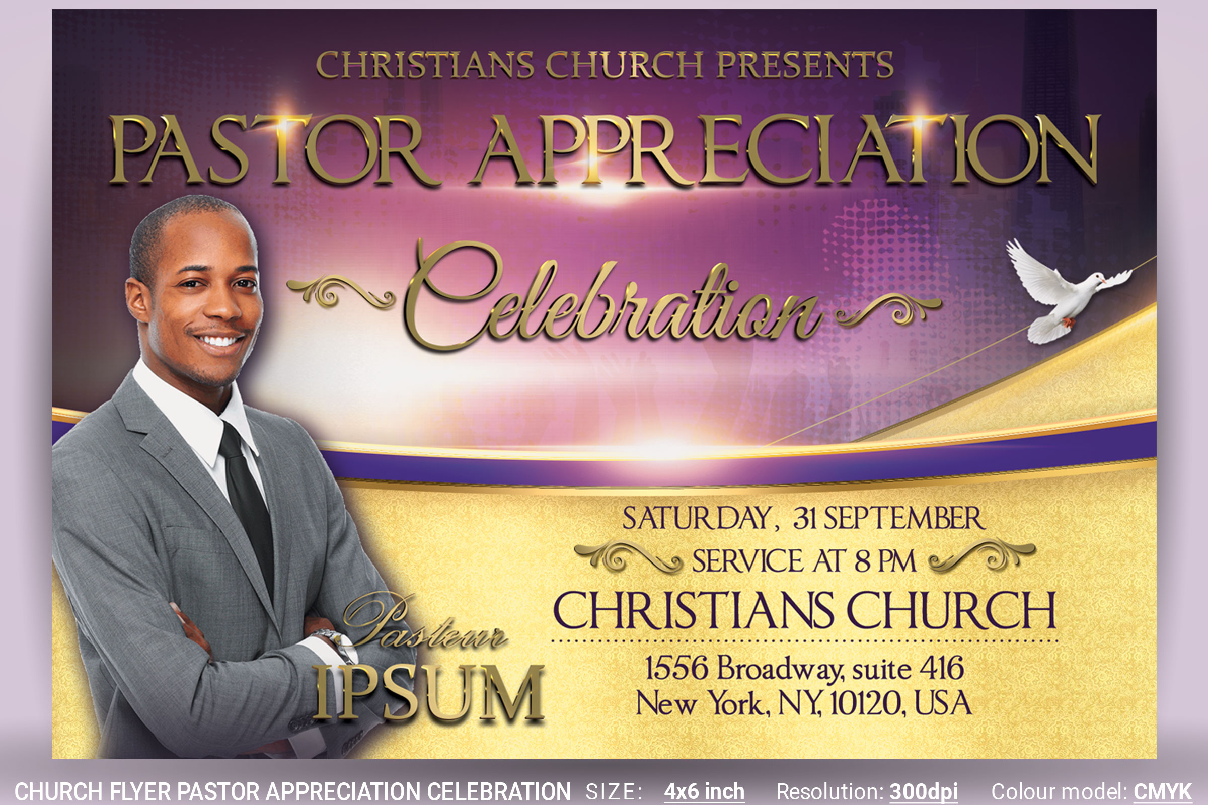Church Flyer Pastor Appreciation Celebration Example Image 1
