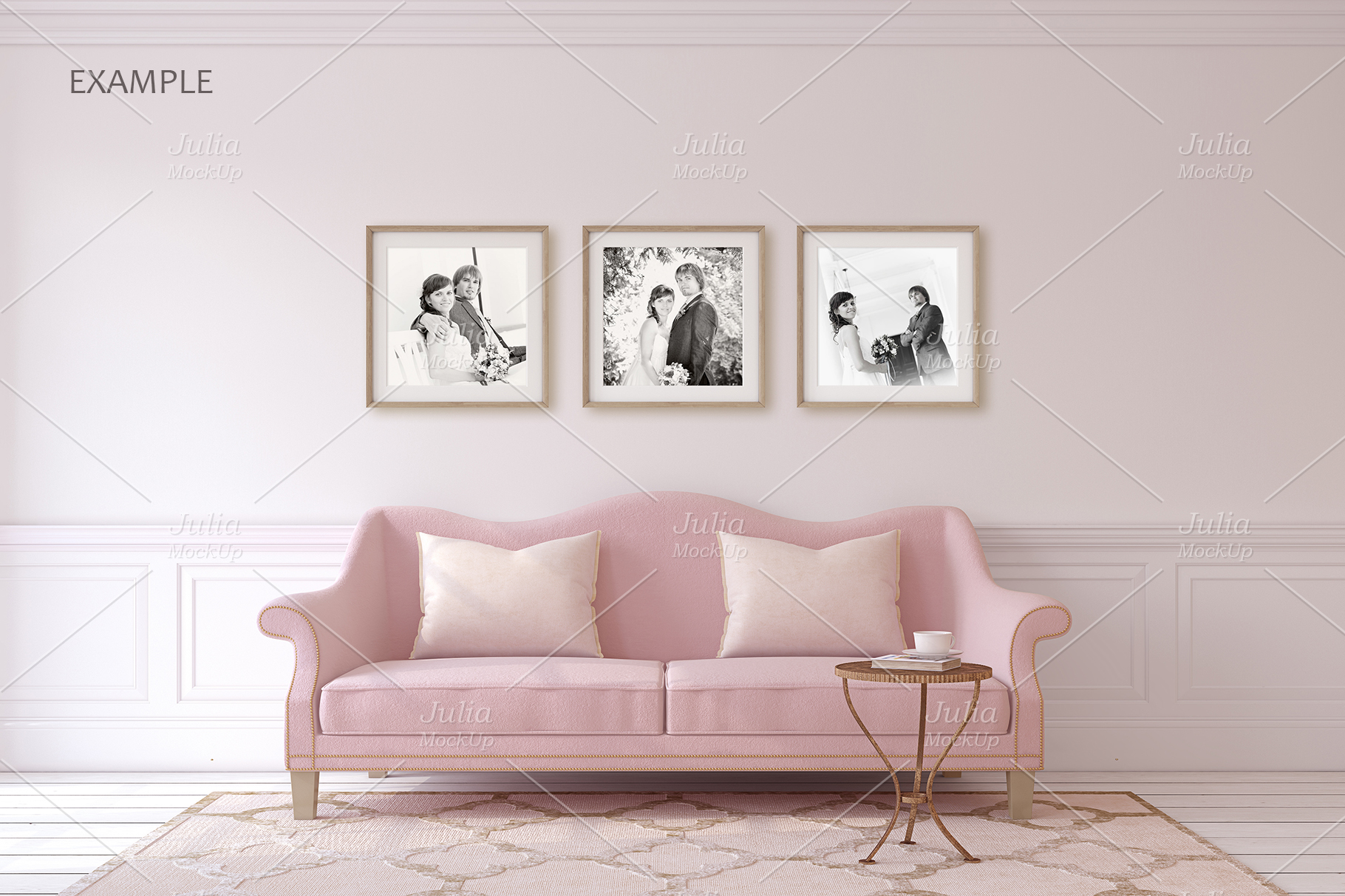 Pink Interiors. Frames&Canvases Mockup. example image 6