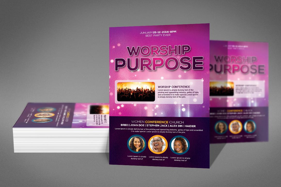Worship Church Flyer example image 2