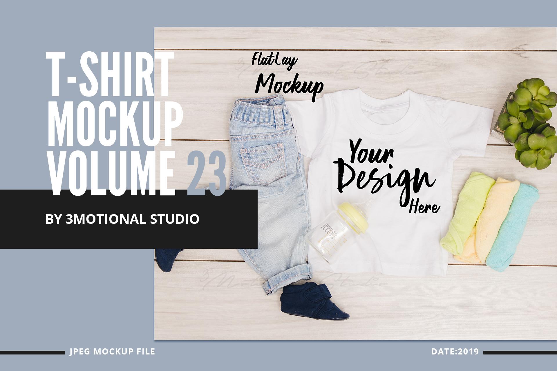T-Shirt Mockup Volume 23 example image 1