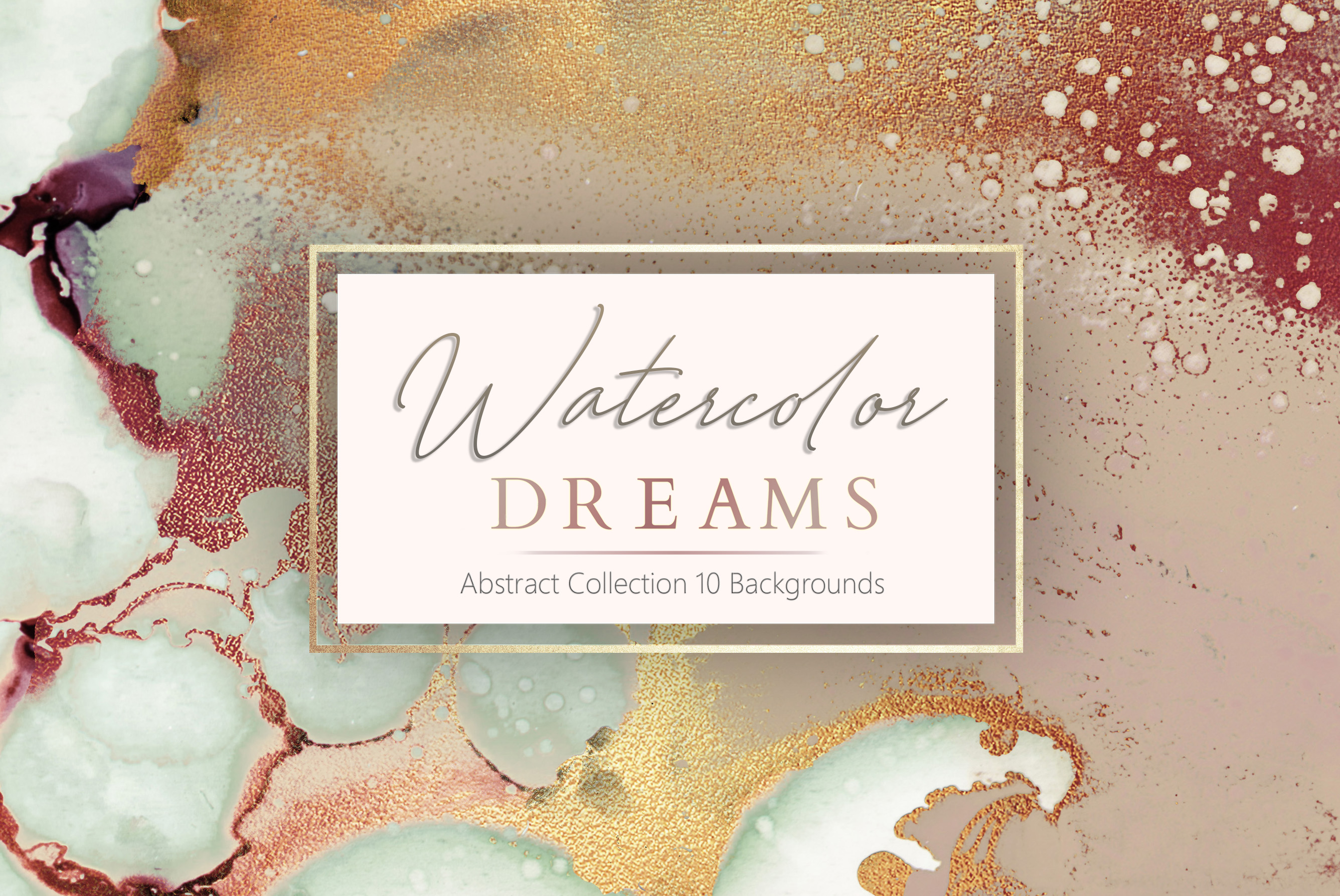 Gold Watercolor and Foil Textures BUNDLE example image 4