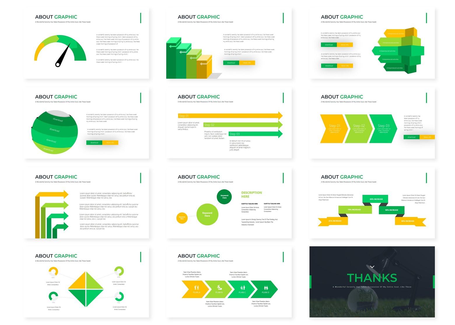 Greenaz | Powerpoint, Keynote, GoogleSlides Template example image 6