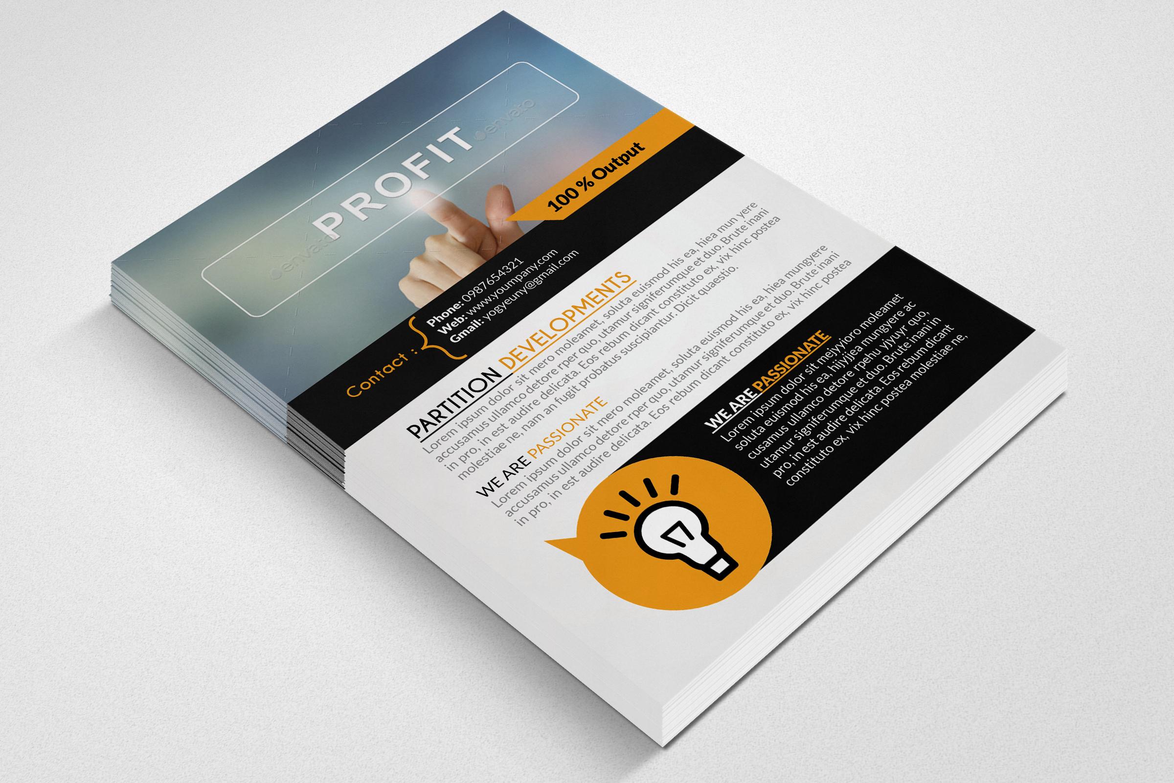 Business Profit Idea Flyers example image 3