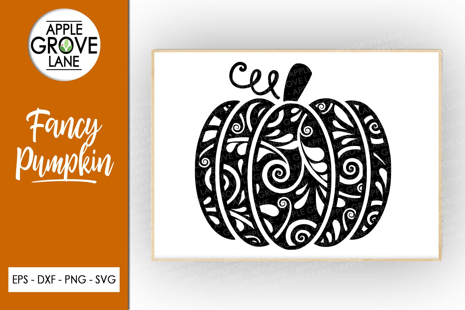 Swirly Pumpkin Svg Cut File - Fall Pumpkin Svg Dxf Eps Png example image 1