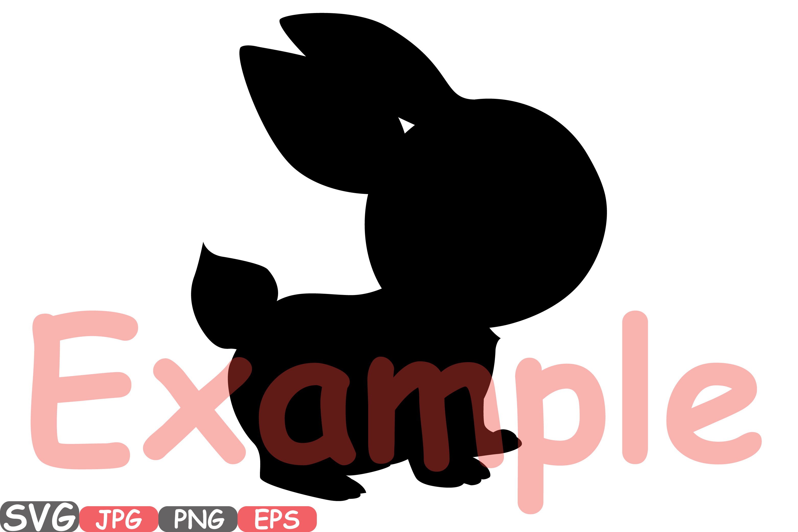 Easter bunny SVG shirt bunny ears outline frame 635S example image 2