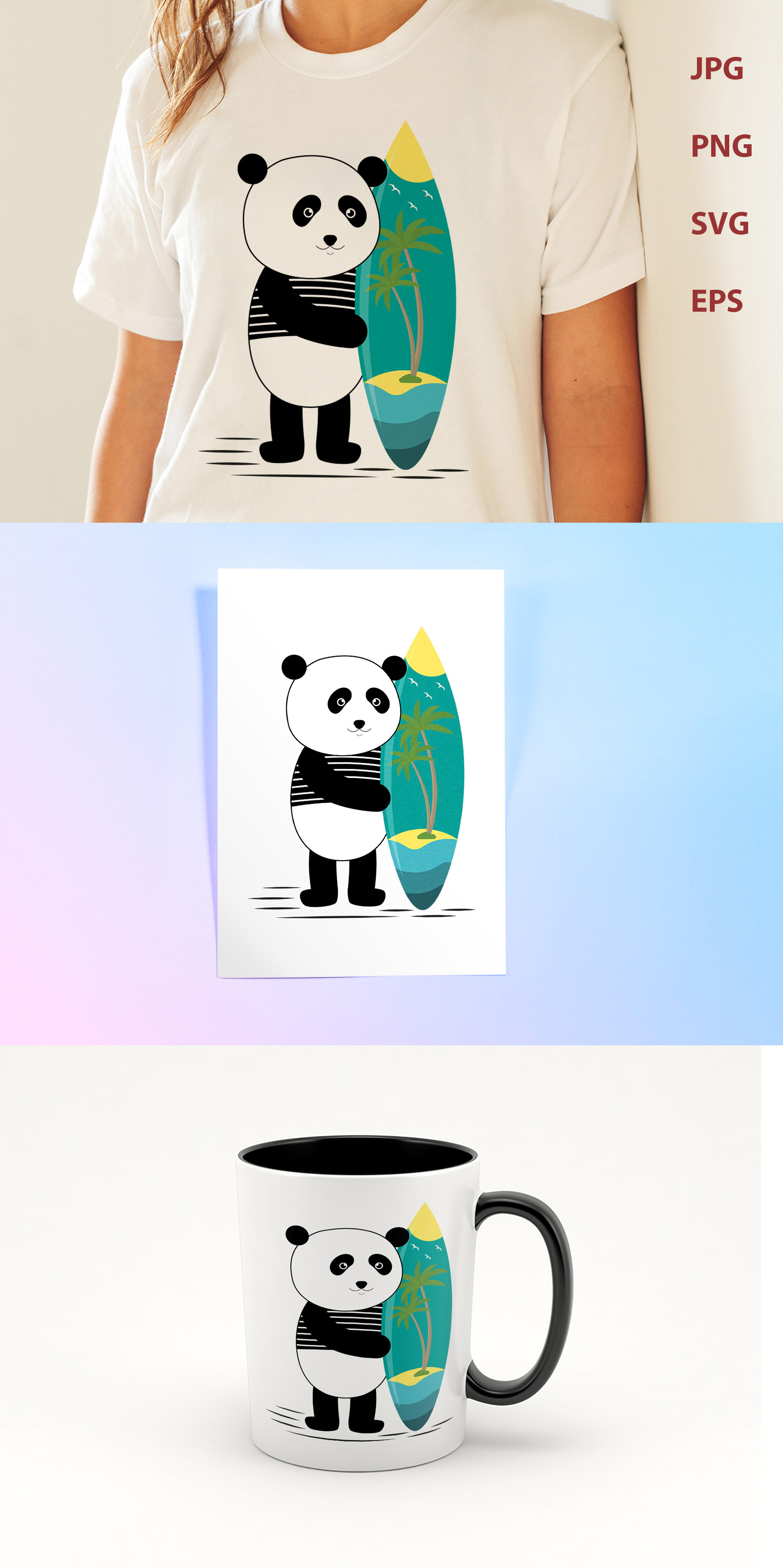 Surf along with the panda example image 3