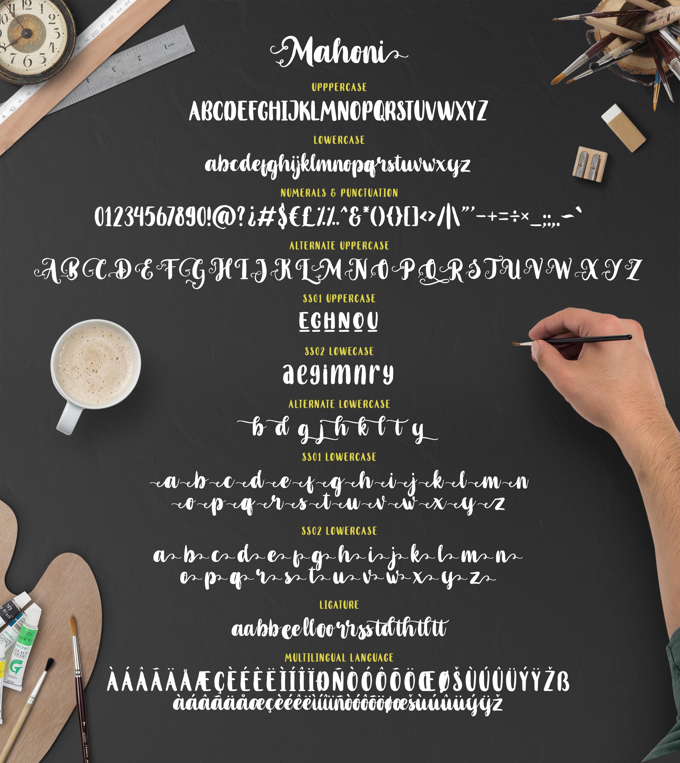 Mahoni - Script & Bold font example image 8