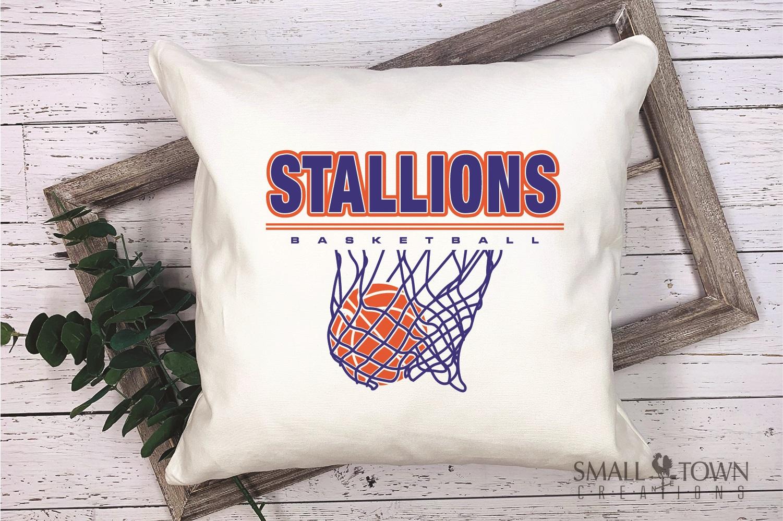 Stallion, basketball, Team, logo, PRINT, CUT & DESIGN example image 3