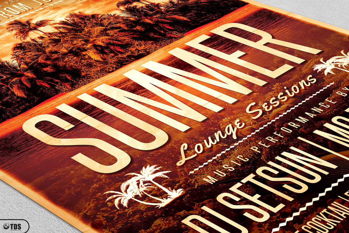 Summer Lounge Flyer Bundle example image 8