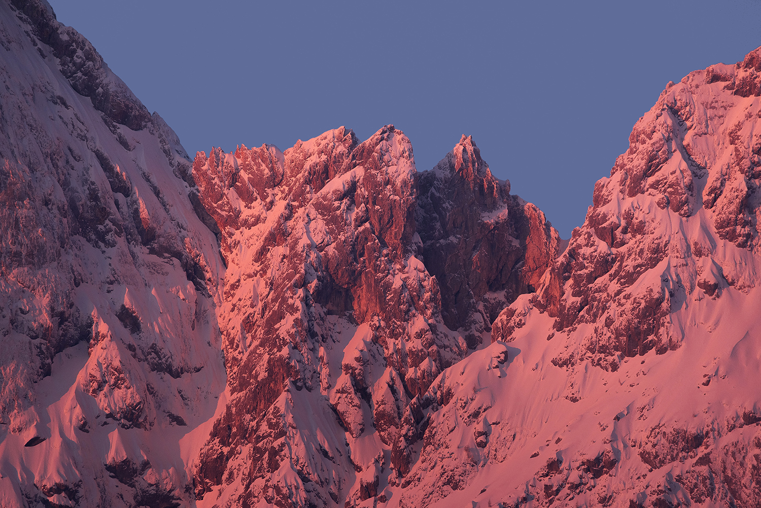 Majestic peaks in the morning example image 1