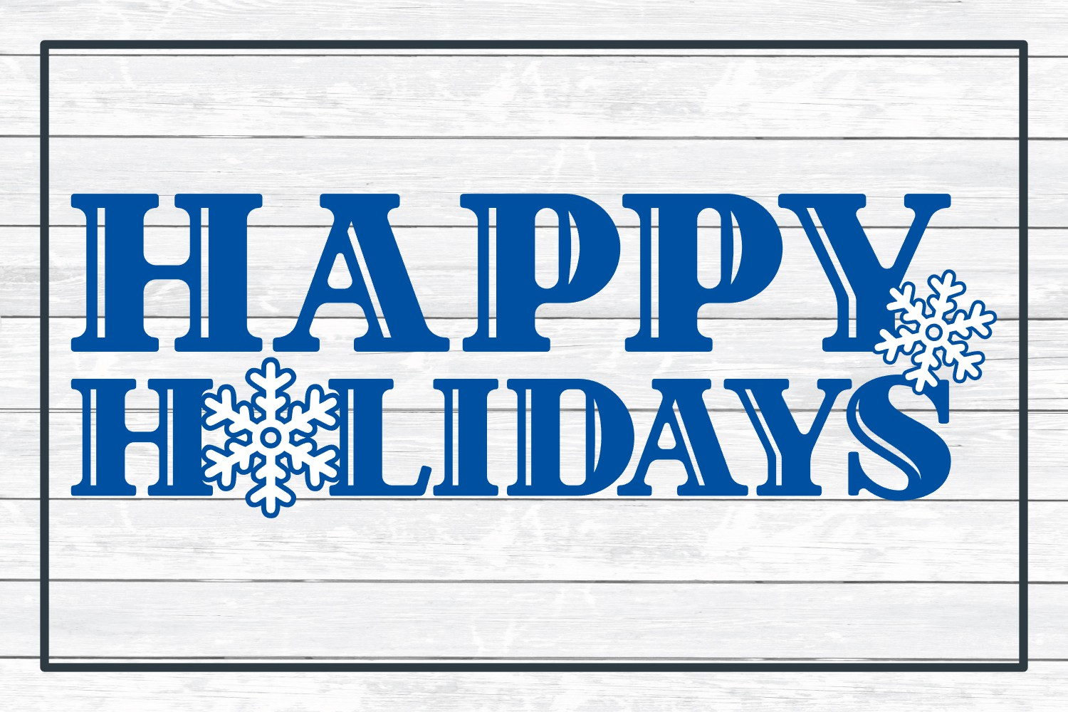 Happy Holidays, Christmas Winter Holiday SVG Cut File example image 3