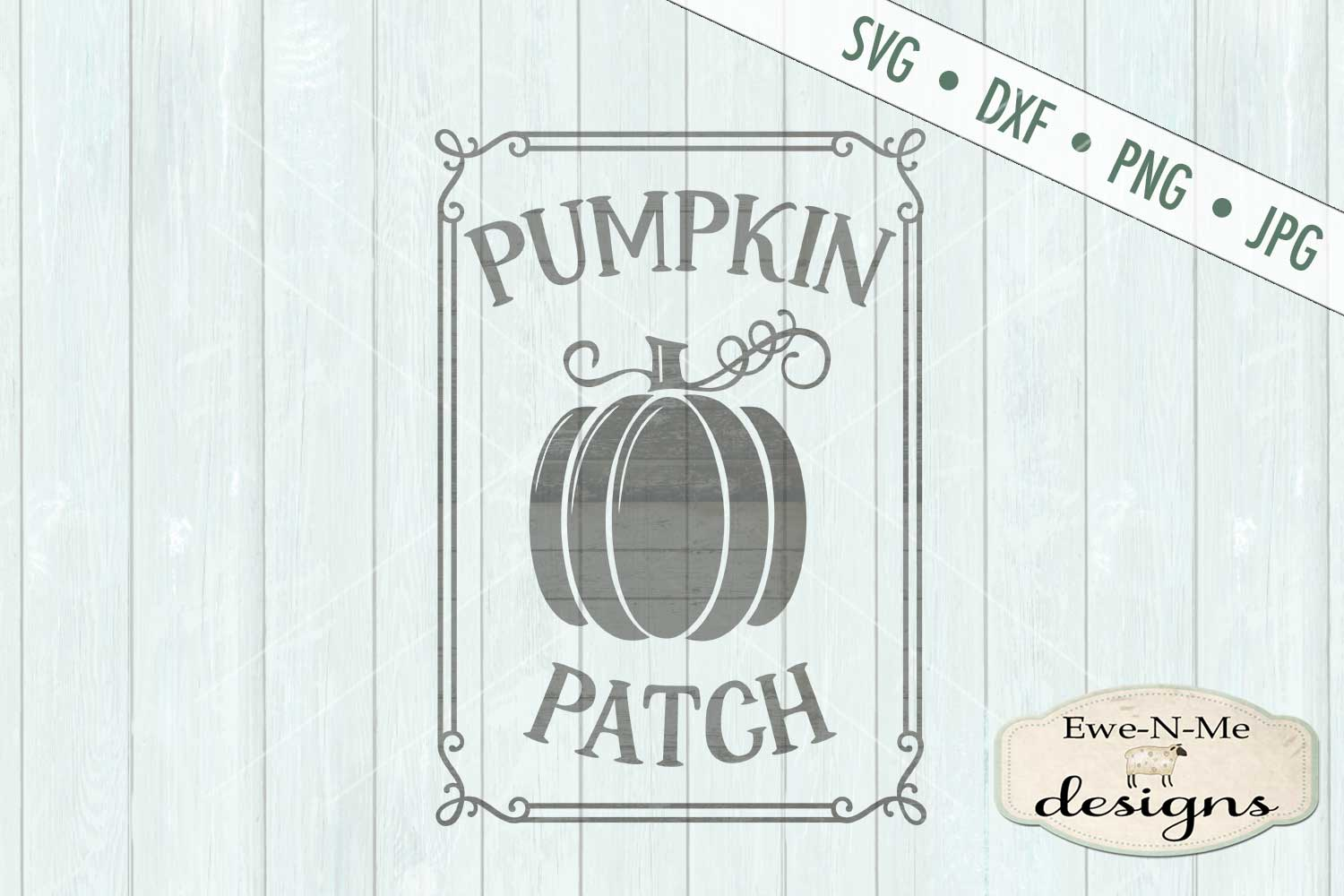 Pumpkin Patch Fall Autumn Harvest SVG DXF Files example image 2