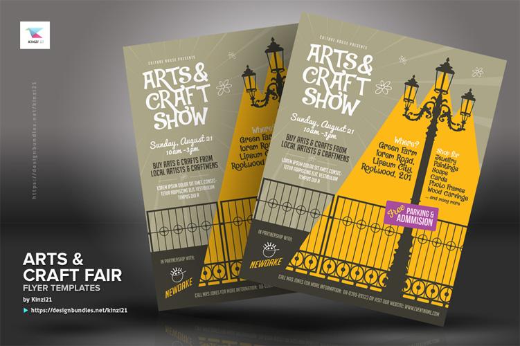 Arts & Craft Fair Flyer Templates example image 3