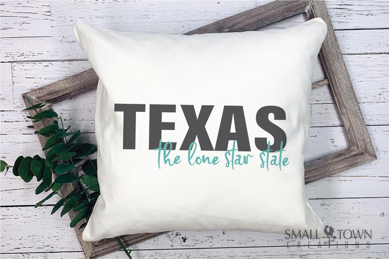 Texas, The Lone Star State slogan, logo, PRINT, CUT & DESIGN example image 7
