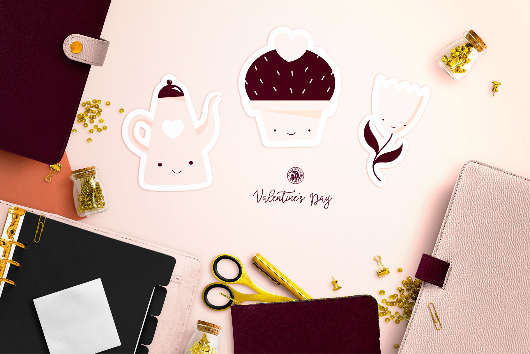 Cute Valentine's Day Stickers example image 4