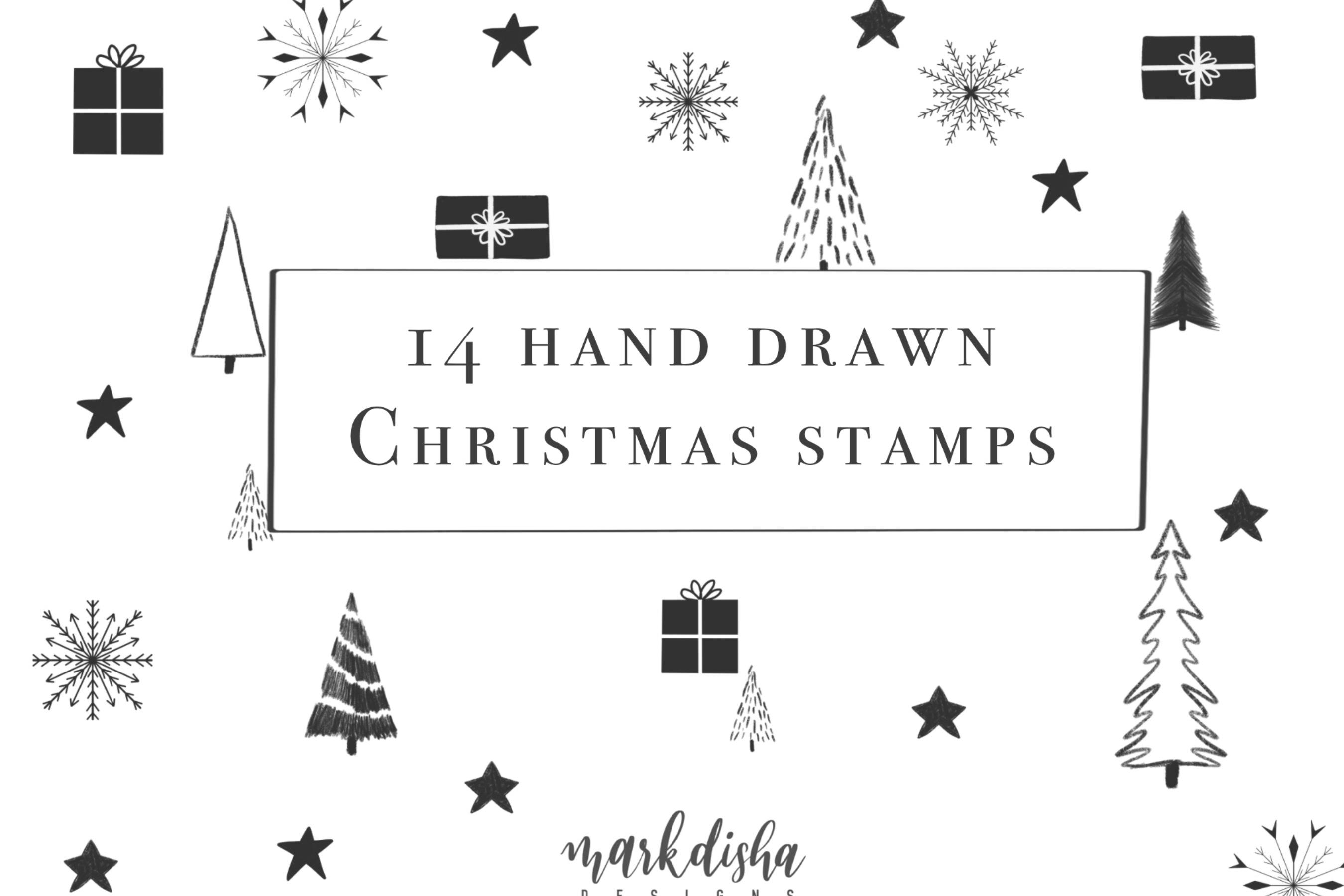 NOEL Procreate Christmas Elements Brush Stamps example image 2