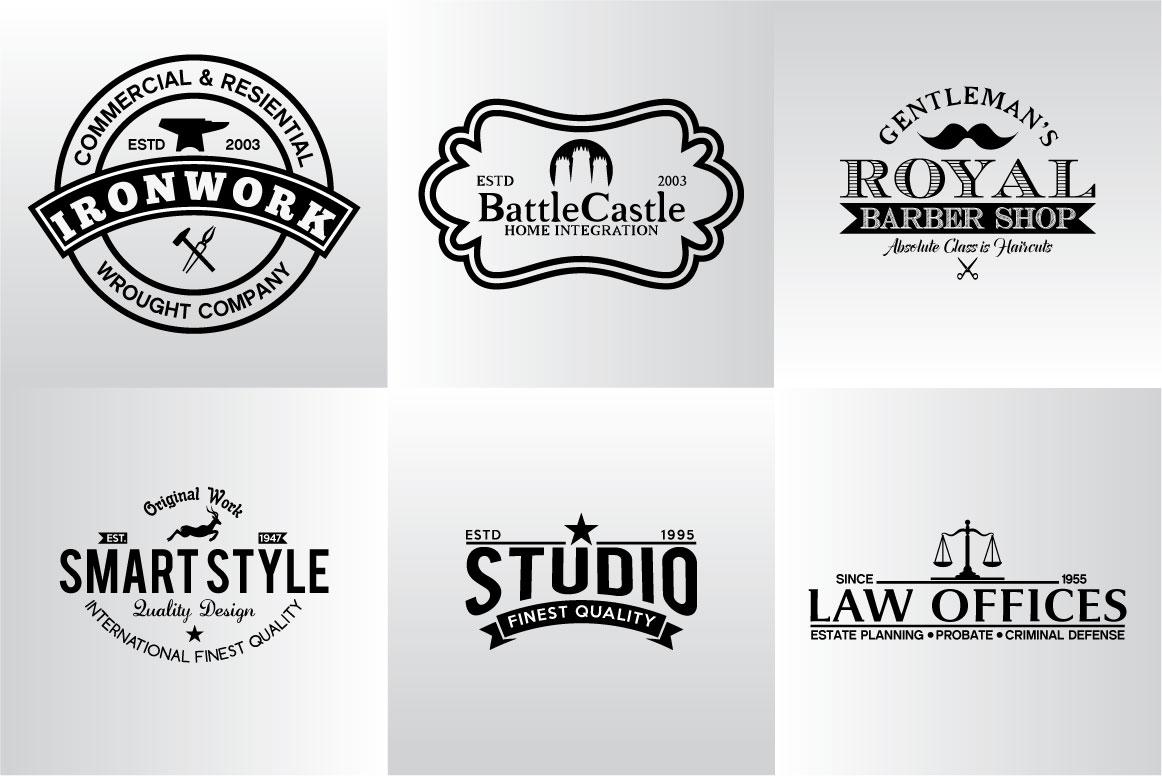 60 Vintage Bundle Logos Labels & Badges example image 15