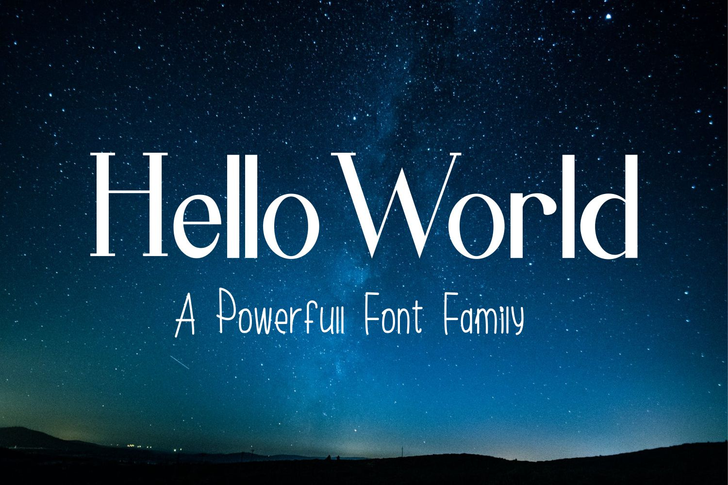 Hello World Font Family example image 1