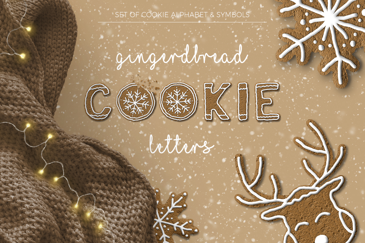 Gingerbread Cookie Letters  Bonus example image 1