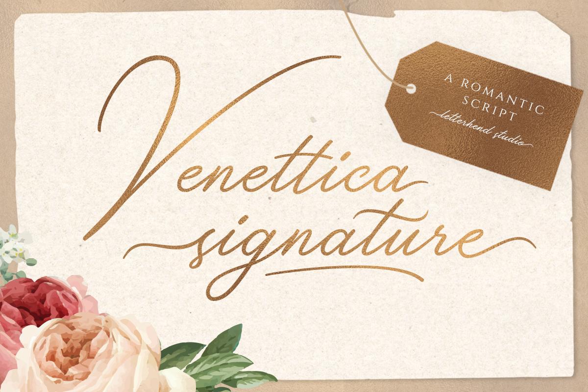 Venettica Signature Romantic Script example image 2
