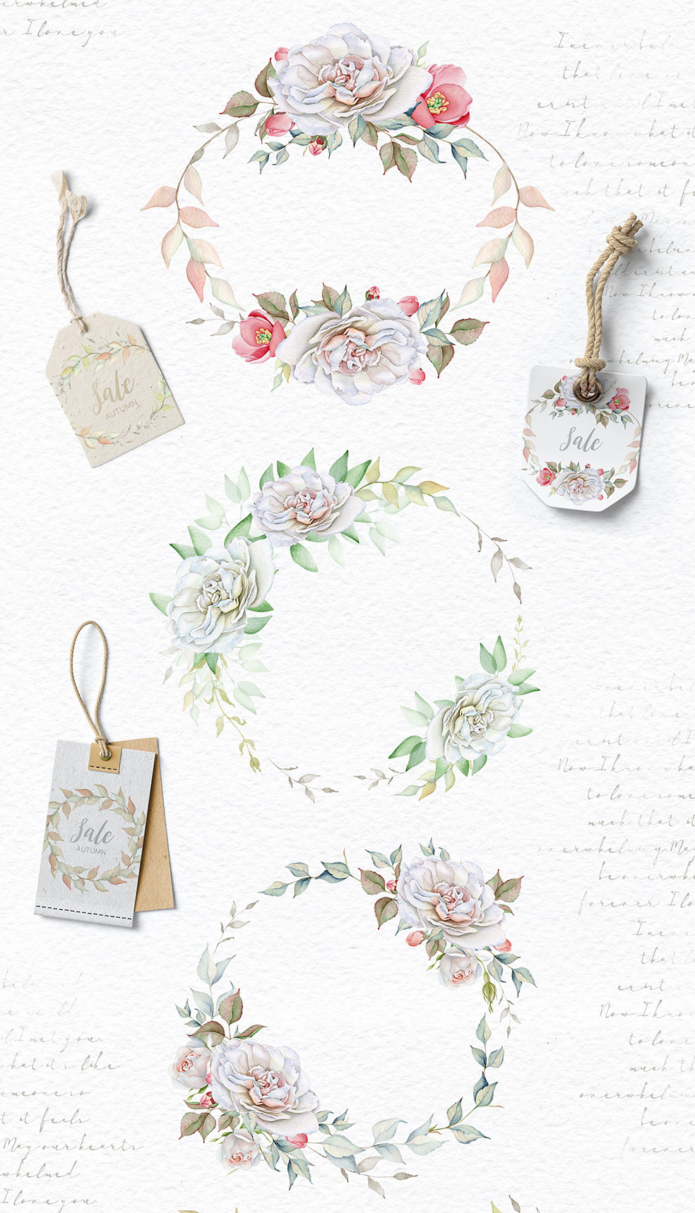 15%OFF. Watercolor Floral Collection example image 10
