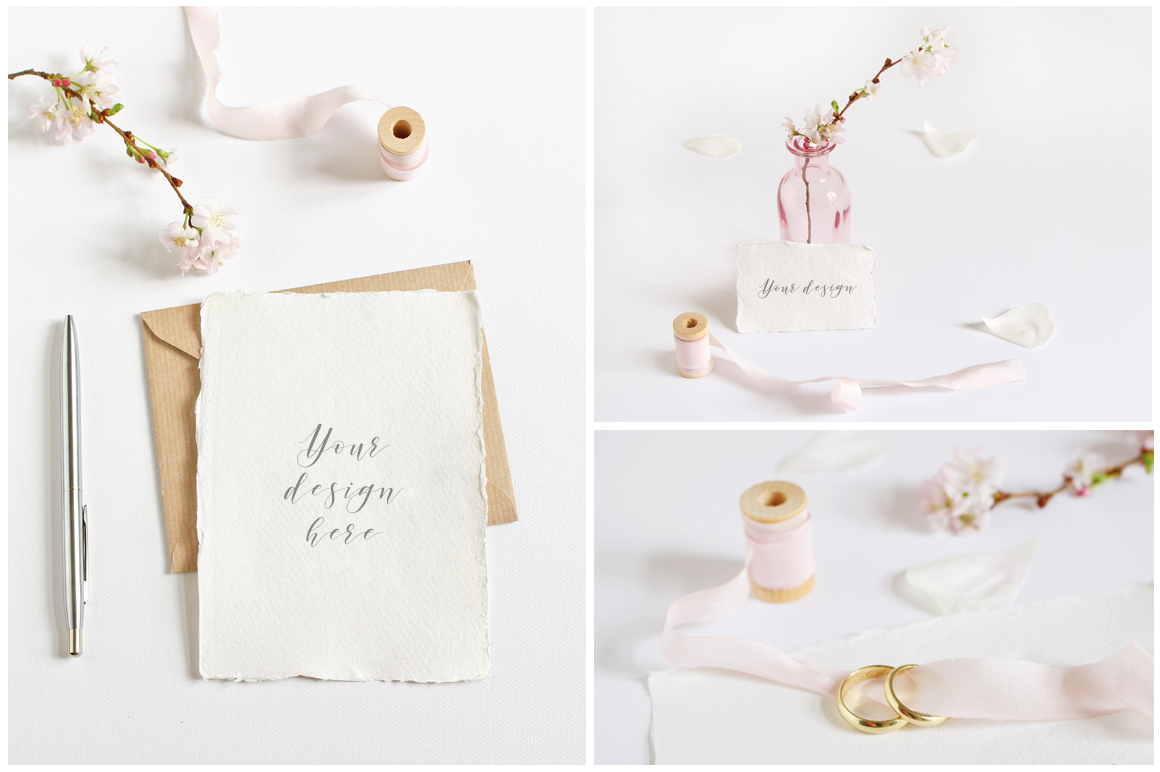 Spring Wedding mockups  & stock photo bundle example image 6