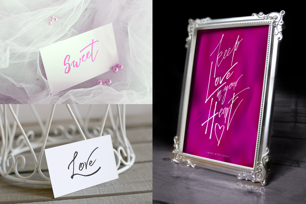 Calligraphy Love Cards example image 4