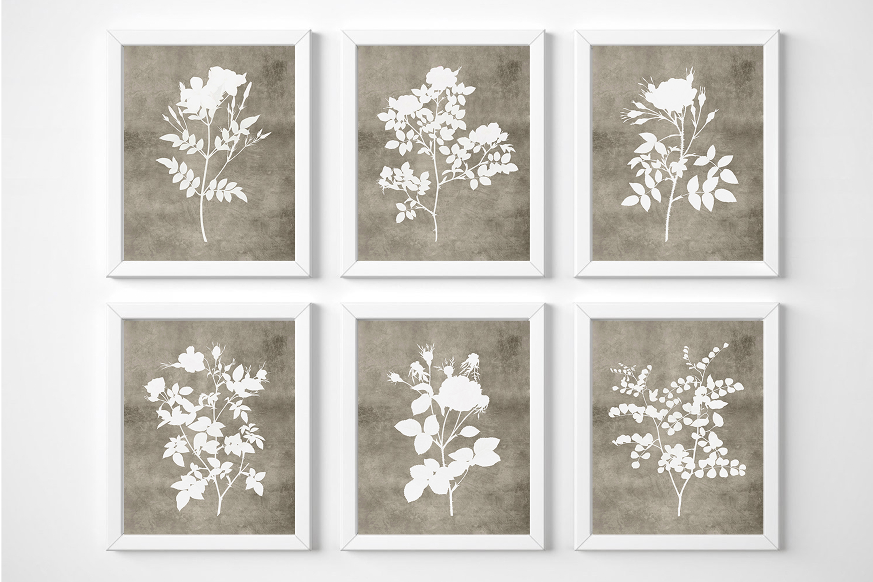 Farmhouse Floral Print, Rustic Flower Wall Decor, Botanical example image 1