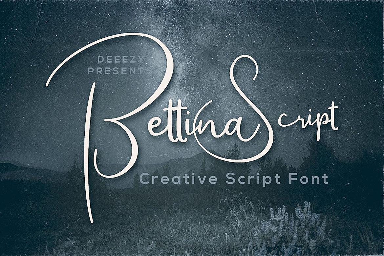 Bettina Script Font example image 1