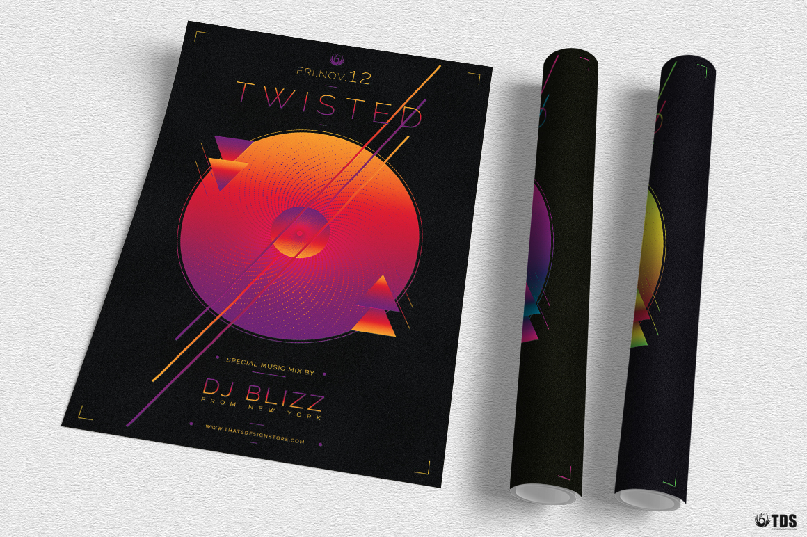 Twisted Session Flyer Template example image 6